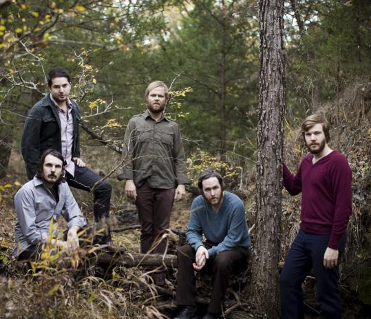 """Midlake is (from left) Paul Alexander, McKenzie Smith, Eric Nichelson, Tim Smith, and Eric Pulido. The group has a new album, titled """"Courage of Others.''"""