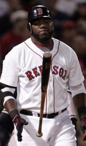 Red Sox DH David Ortiz, who is off to an 0-for-7 start, got a little angry after being asked about his slow start.
