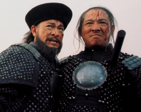"Andy Lau (left) and Jet Li are comrades in battle in the Chinese war epic ""The Warlords.''"