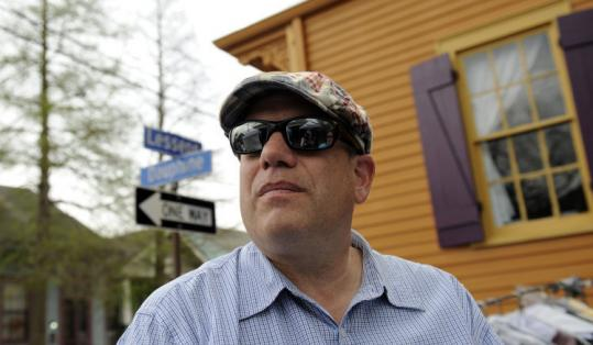 "David Simon in New Orleans on the set of his show ""Treme.''"