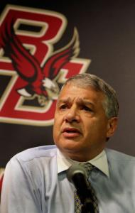 AD Gene DeFilippo was scarce during BC's run to the hockey title game — for good reason.