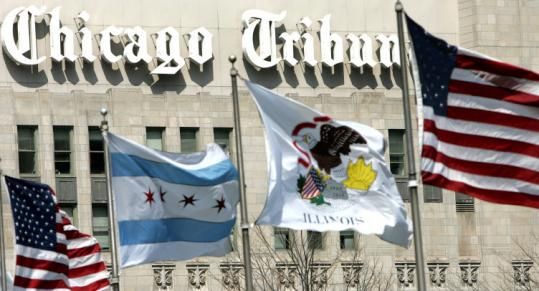 Tribune's properties include the Chicago Tribune newspaper.