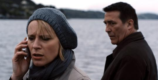 Iben Hjejle and Ciaran Hinds in the supernatural thriller set in an Irish seaport.