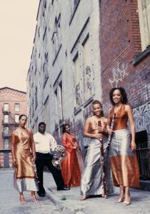 Imani Winds plays at Jordan Hall tonight with (from left) Mariam Adam (clarinet), Jeff Scott (French horn), Valerie Coleman (flute), Monica Ellis (bassoon), and Toyin Spellman-Diaz (oboe).