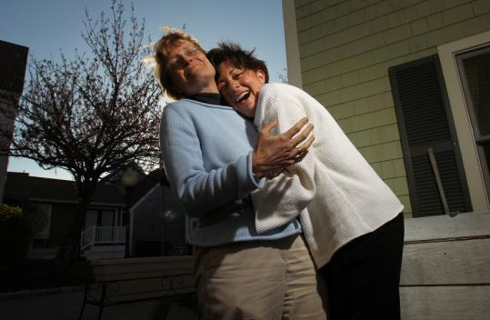 Hilary Greene of Centerville and Ellyn Cohen of Holliston share a bond.