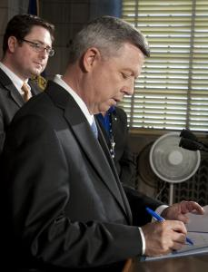 Governor Dave Heineman of Nebraska last week signed into law two bills restricting abortion that are widely viewed as firsts in the country.