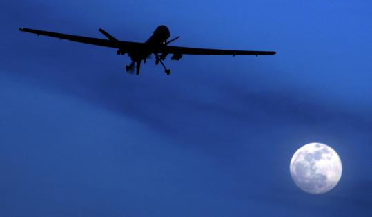A US Predator drone flew over Kandahar, which historically has been a stronghold of the Taliban, earlier this year.