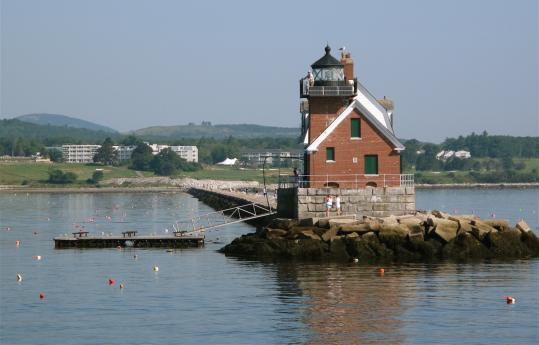 The Rockland Breakwater Lighthouse is often open to visitors on weekends.