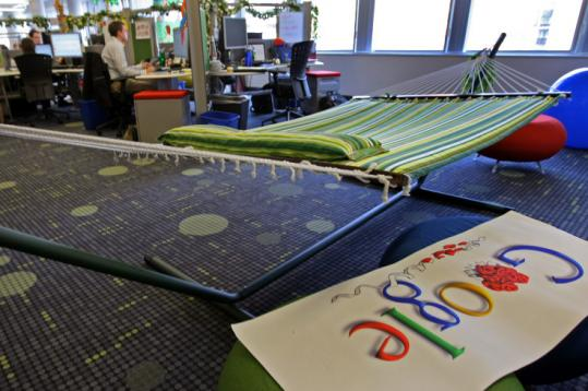 Google's Cambridge office, which featured a hammock for employees on break in this 2008 photo, is near ITA's office.