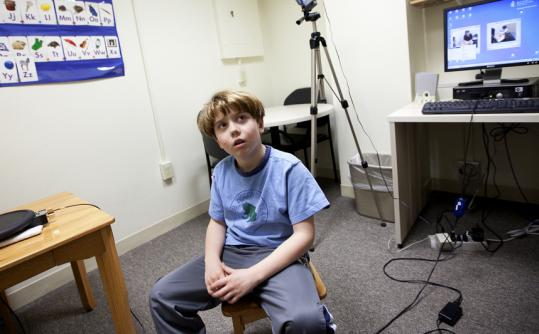 A therapy of singing and gestures has Tripp Black, 9, speaking at last.
