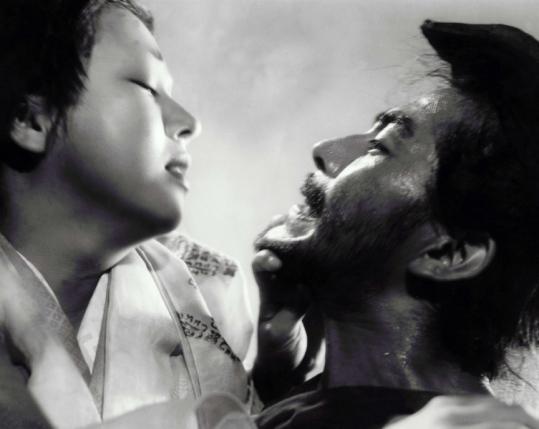"""Machiko Kyo and Toshiro Mifune in """"Rashomon,'' the 1951 classic that opened the door to Asian filmmaking."""