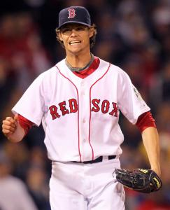 Clay Buchholz, the face of the Sox future, had reason to grimace in the seventh inning.