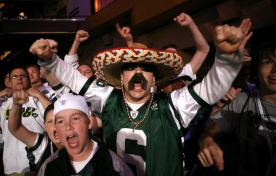 Jets fans had the costumes out and the reactions ready when their team made a second-round selection yesterday.