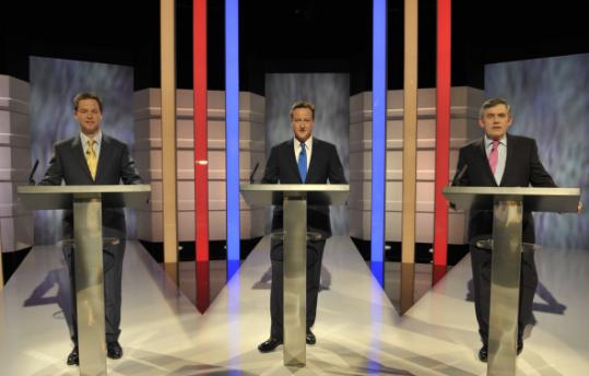 The first debate involving Nick Clegg, David Cameron , and Gordon Brown produced some unaccustomed surprises in Britain.