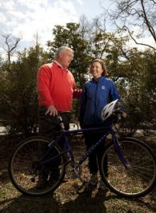 Mayor Menino and Nicole Freedman, of Boston Bikes.