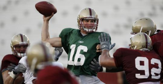 Mike Marscovetra threw for 149 yards and a score in BC's spring game.