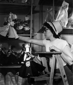 Amelia Robin Agush, shown in her Los Angeles studio circa 1950, devised paper kits that Family Circle magazine sold.
