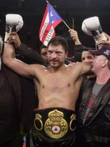 John Ruiz became the first Latino heavyweight champ in 2001.