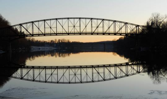 The now-closed Schell Bridge, which crosses the Connecticut River, is one of many picturesque spots in Northfield.