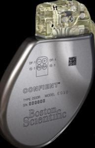 Boston Scientific Corp.'s Confient implantable cardioverter defibrillator.