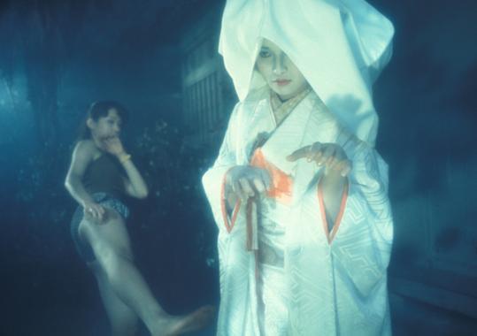 "Kimiko Ikegami (front) and Miki Jinbo in Nobuhiko Obayashi's 1977 film ""House.''"