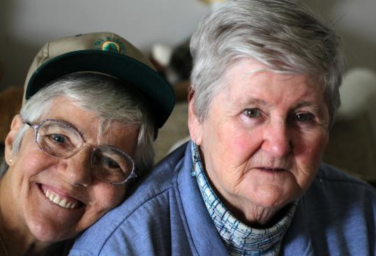 Barbara Russo (left), 72, and Peggy Kemmett, 80, have been committed to the Walk for Hunger since 1971. Last year, the event drew 44,000 participants and raised $3.8 million to help feed people in Massachusetts.