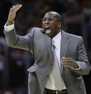 "Cavaliers coach Mike Brown said LeBron James has ""grown by leaps and bounds.''"