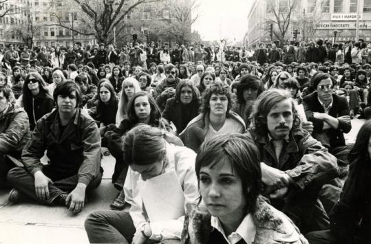 BU students protested the invasion of Cambodia in May 1970.