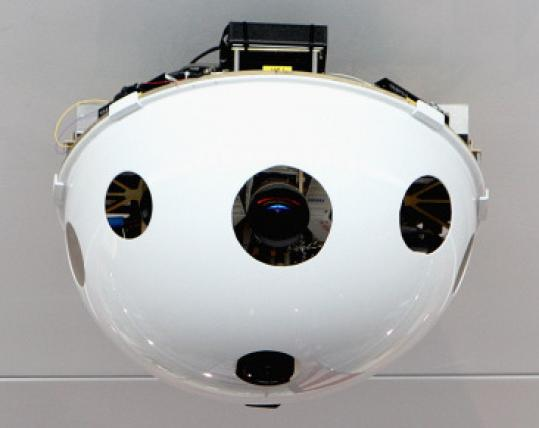 The camera has a 24-inch diameter and panoramic view.