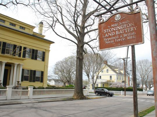 Stonington Village is home to many shops, galleries, and antiques stores.