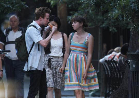 "Mark Rendall and Zoe Kazan star in ""The Exploding Girl,'' a film by Bradley Rust Gray."