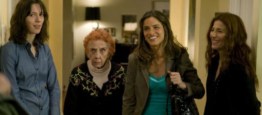 From left: Rebecca Hall, Ann Guilbert, Amanda Peet, and Catherine Keener.