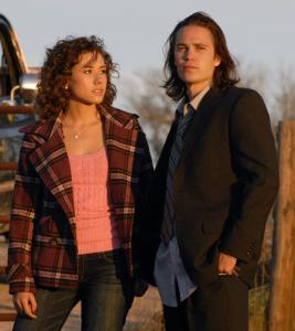 "Taylor Kitsch (right, with cast newcomer Madison Burge) returns as Tim Riggins in ""Friday Night Lights.''"