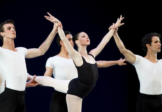 Kathleen Breen Combes performed during a rehearsal for Boston Ballet&#8217;s &#8220;Ultimate Balanchine&#8217;&#8217; program at the Boston Opera House on Wednesday.