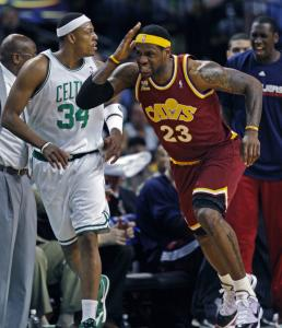 LeBron James had a bounce-back game, scoring 38 points, but also wanted a foul called here.