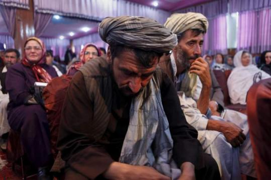 Afghans gathered yesterday in Kabul to recount atrocities they suffered under Taliban and Soviet regimes.