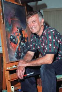 Mr. Frazetta created illustrations for books, comic books, album covers, and movie posters.