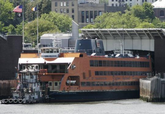 The Andrew J. Barberi ferry crashed Saturday, injuring about three dozen of the 252 passengers on board.