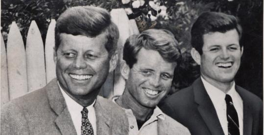 """The Dream Lives On: A Portrait of the Kennedy Brothers'' by Peter Boyer features the words of John, Robert, and Edward Kennedy."