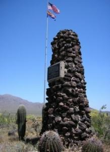 The Civil War Preservation Trust is at www.civilwar.org. Above, the monument at Picacho Peak in Arizona.