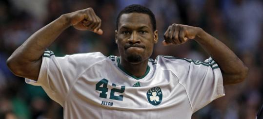 Tony Allen and the Celtics flexed their muscles last night.