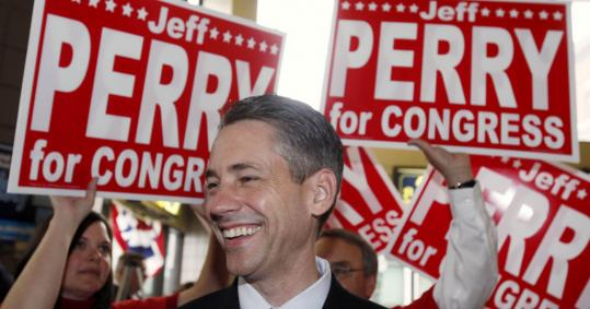 Congressional candidate Jeffrey D. Perry is facing scrutiny for his role in two strip search cases.