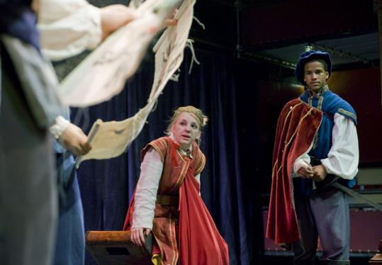 """Adjudicated youth offenders rehearsed a scene from Shakespeare's """"Henry V'' that they will perform tonight in Lenox."""
