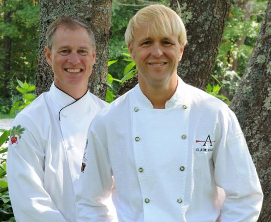 Ron Manville Mark Gaier (left) and Clark Frasier of Arrows and MC Perkins Cove in Ogunquit, Maine, were named Best Chefs in the Northeast by the James Beard Foundation.