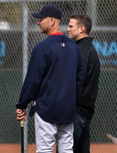 In 2010, Francona had been handed a team reconfigured by general manager Theo Epstein (right) to rely on pitching and defense, and the defense was as shoddy as the starting pitching. He also had a knotty problem in clubhouse diplomacy involving aging stars David Ortiz and Mike Lowell, made worse when Ortiz began the season barely hitting .200.