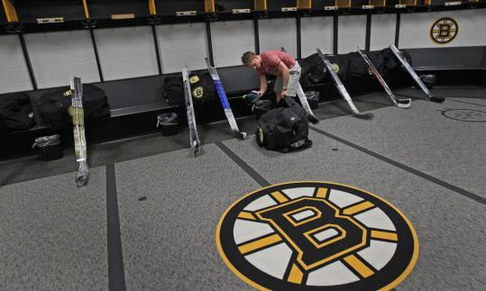 Vladimir Sobotka was all alone as he cleaned out his stall at TD Garden yesterday. He was also left hanging by Marc Savard in the too-many-men-on-the-ice mix-up in Game 7.