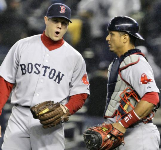 Jonathan Papelbon and catcher Victor Martinez liked last night's ninth inning a bit better than the previous night's.