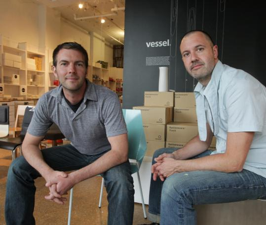"Though Stefane Barbeau (left) and Duane Smith are closing Vessel, they'll still utilize the space, and conduct their design work. ""That's when the magic happens,'' Barbeau says."