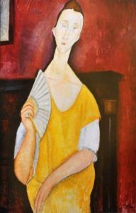 "Among the paintings stolen yesterday was ""La femme a l'eventail'' (""Woman with a Fan'') by Amedeo Modigliani."