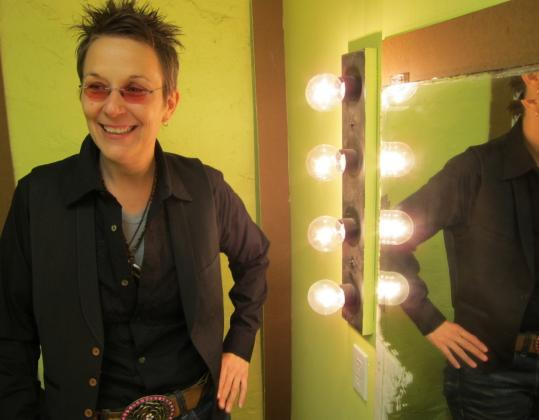 Mary Gauthier backstage at the Somerville Theatre in April. Her new album, 'The Foundling,' chronicles her life as an orphan. 'The record started really in my head when I walked through the door of the orphanage,' she says.